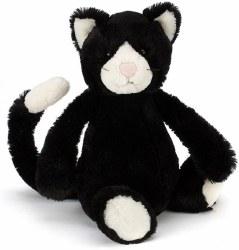 Bashful Black & White Cat Medium