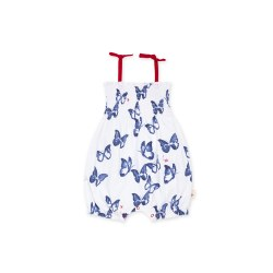 Butterflies Bubble Romper 0-3m