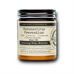 Coronavirus Prevention Checklist Candle