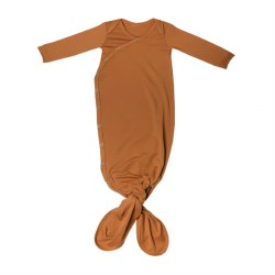 Newborn Knotted Gown Camel