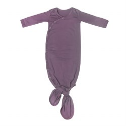 Newborn Knotted Gown Plum
