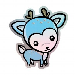 Dainty Deer Vinyl Sticker