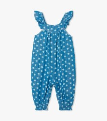 Ditsy Floral Chambray Romper 3-6m