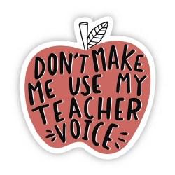 Don't Make Me Teacher Voice