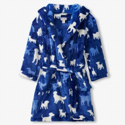 Fleece Robe Pups Medium