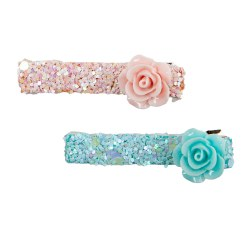 Glitter Rosette Hairclip