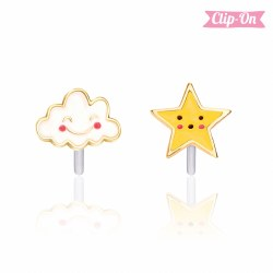 Perfect Pair Clip-On Earings Head in the Clouds