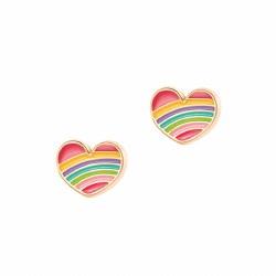 Rainbow Heart Cutie Studs