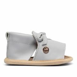 Grey Bow Shoe 9-12m