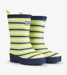 Rain Boots Lime Stripes 1Y