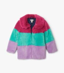 Faux Fur Color Block Jacket 4