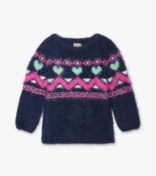 Fair Isle Fuzzy Sweater 4