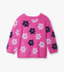 Retro Flowers Fuzzy Sweater 4