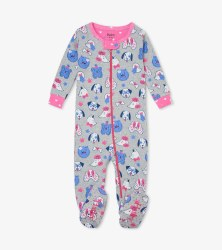 Footed Coverall Playful Pups 3-6m