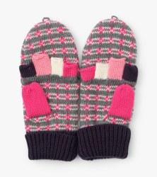 Winter Hearts Flip Mittens Small (2-3)