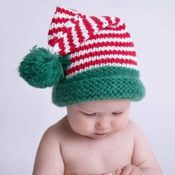 Candy Cane Stocking Hat 0-6m