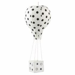 Hot Air Balloon Black Dot Large
