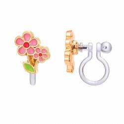 Clip-On Earings Little Pink Fl