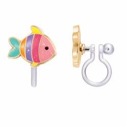 Clip-On Earings Rainbow Fish