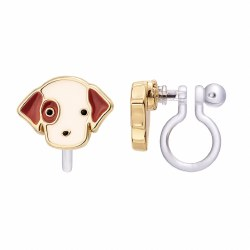 Clip-On Earings Perky Puppy