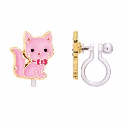 Clip-On Earings Kitty Pink