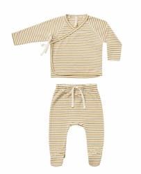 Kimono + Pant Set Gold Stripe 0-3m