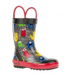 Rain Boots Monsters Black 7T