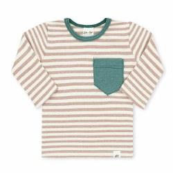 L/S Pocket Shirt Camel 12-18m