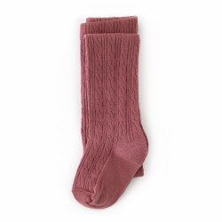 Cable Knit Tights Mauve 0-6m