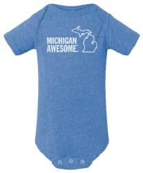 Michigan Awesome Blue 12-18m