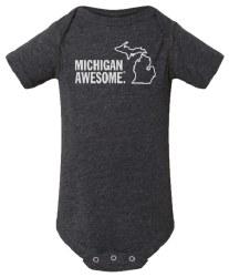 Michigan Awesome Dk Grey 3-6m