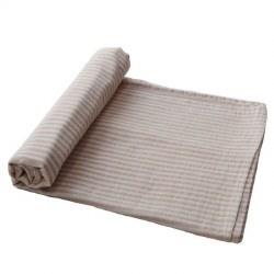 Muslin Swaddle Natural Stripe