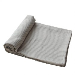 Muslin Swaddle Sage Stripe
