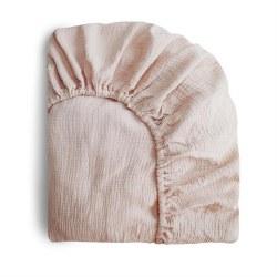 Muslin Crib Sheet Blush