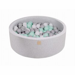 Foam Ball Pit Light Grey with Grey, White and Teal Balls