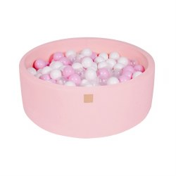 Foam Ball Pit Pink with White, Transparent and Pink Balls