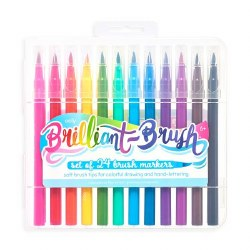 Brilliant Brush Markers 24pc