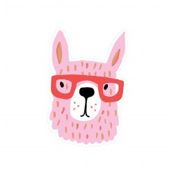 Pink Llama Vinyl Sticker
