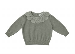 Petal Knit Sweater Basil 12-18