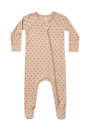 Bamboo Footie Hearts 12-18m
