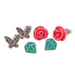 Rose Studded Earrings
