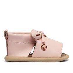 Seashell Pink Bow Shoe 9-12m