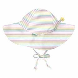 Sun Hat Rainbow Pinstripe 0-6m
