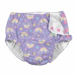 Swim Diaper Violet Rainbows 6m