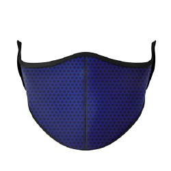 Adult Face Mask Navy Purple