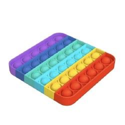OMG Pop Fidgety Rainbow Square