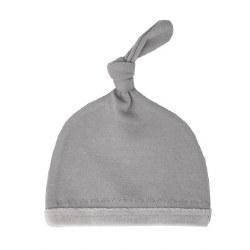 Velveteen Hat Light Grey Preemie-NB