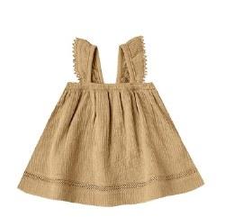 Woven Dress Gold 3-6m