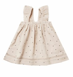 Woven Dress Natural 3-6m