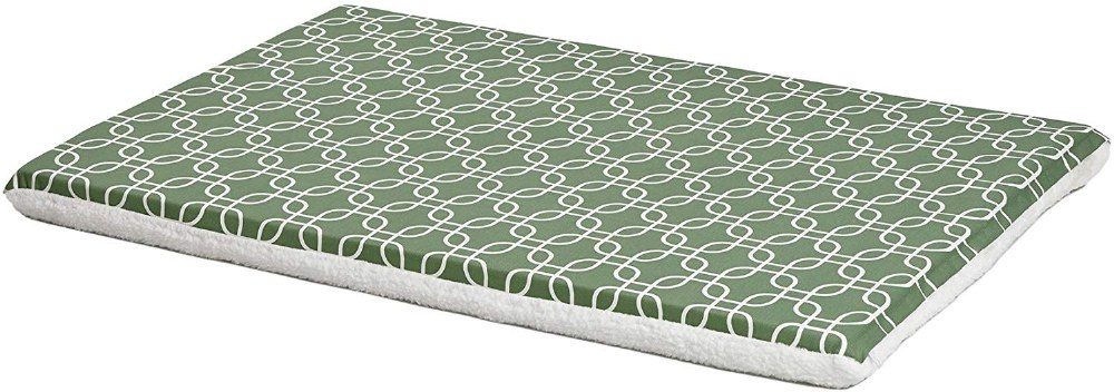 Green-White Geometric 42IN Bed